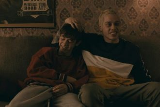 """Mo (Griffin Gluck, left) and Zete (Pete Davidson) are unlikely best friends in coming-of-age comedy """"Big Time Adolescence."""""""