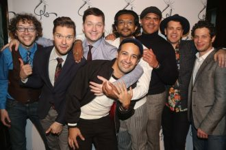 "The opening night celebration for Lin-Manuel Miranda's ""Freestyle Love Supreme"""