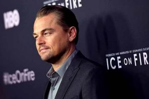 Leonard DiCaprio attends LA premiere for HBO documentary 'Ice on Fire'