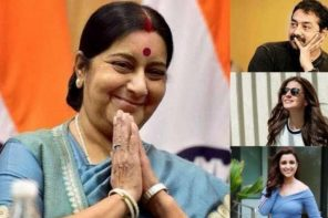 Sushma Swaraj passes away; Anurag Kashyap, Anushka Sharma and other Bollywood celebrities pay rich tributes