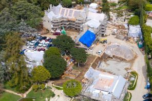 Playboy Mansion New Look, Who Dis? … Grotto Drained!!!