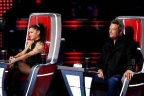 Ariana Grande shares text messages from Blake Shelton joking she'll replace him on 'The Voice'